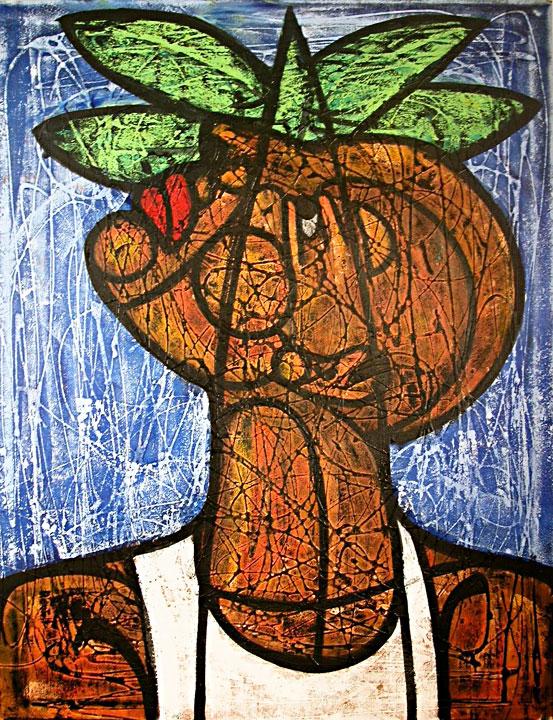 Portrait with Palm Tree